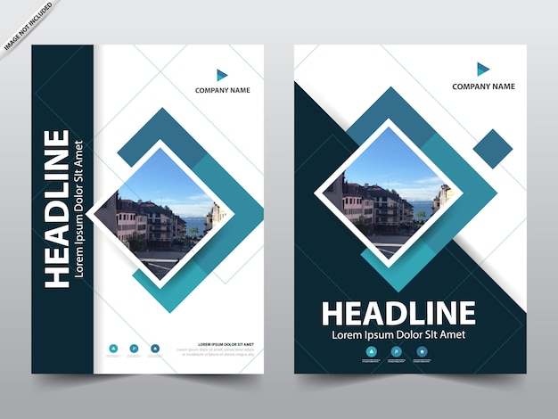 Blue annual report cover template