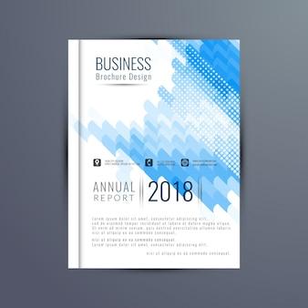 Blue annual report cover