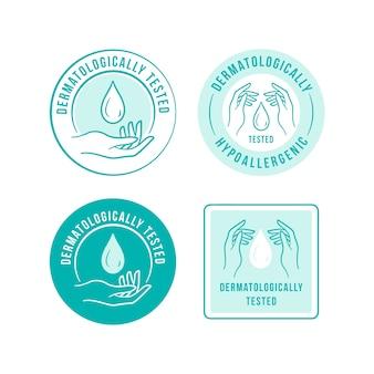 Modello di logo antibatterico blu