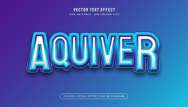 Blue aqua text effect in e-sport style