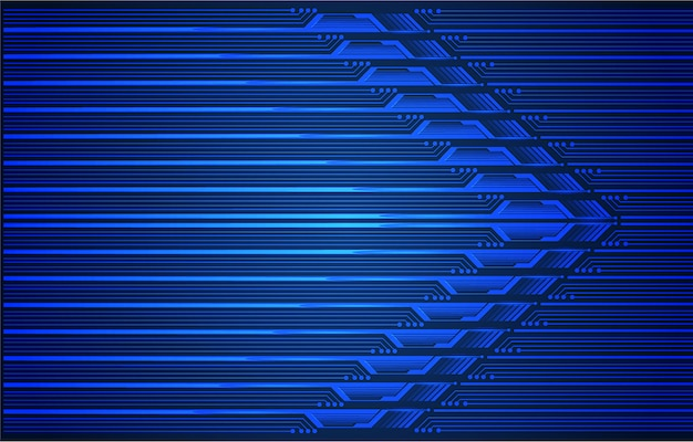 Blue arrow cyber future technology background