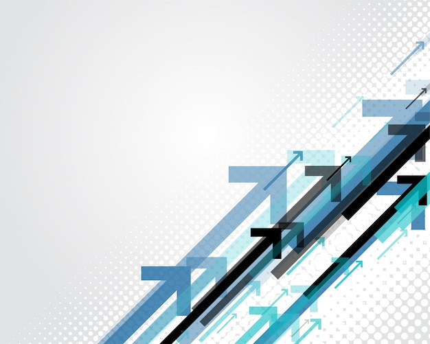 Blue arrows business style background