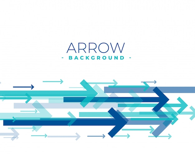 Blue arrows moving forward background in blue color