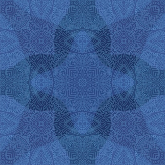 Blue art with seamless linear abstract pattern