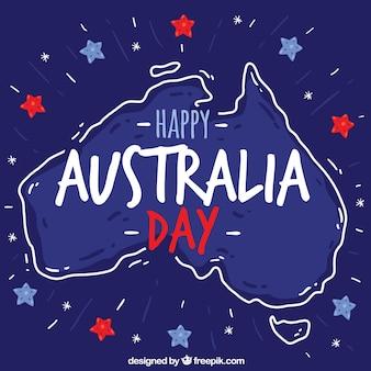 Blue australia day design