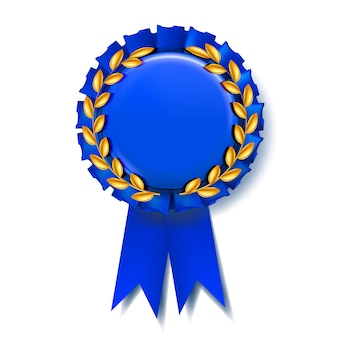 Blue award ribbon