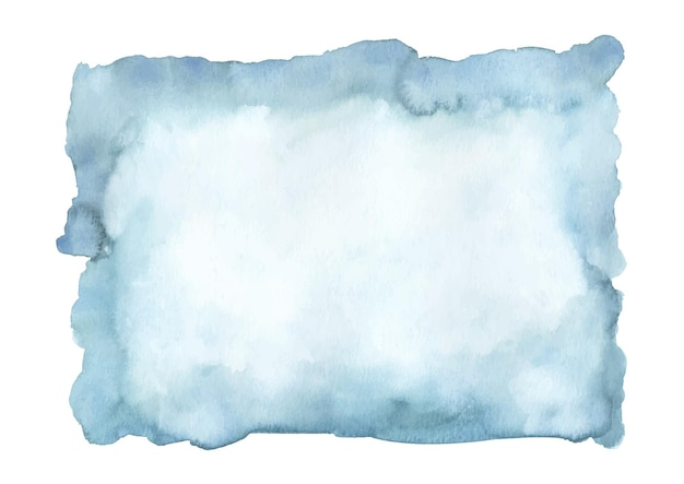 Blue azure turquoise abstract watercolor stain.