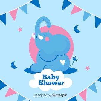 Concetto di doccia bambino blu per ragazzo