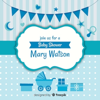 Blue baby shower design for boy