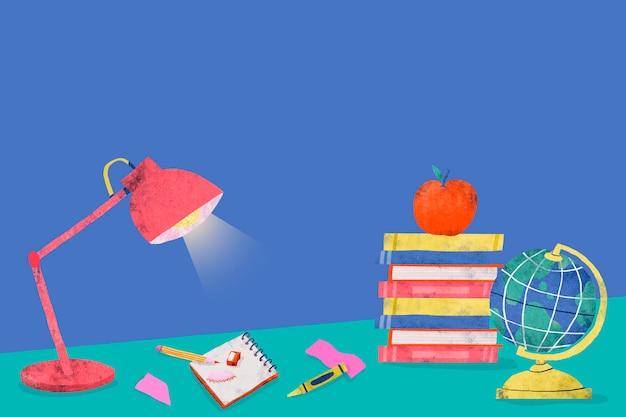 Синий обратно в школу учебный стол