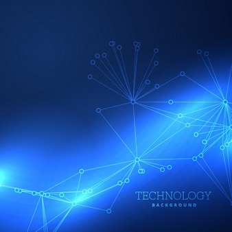 Blue background about technology Free Vector