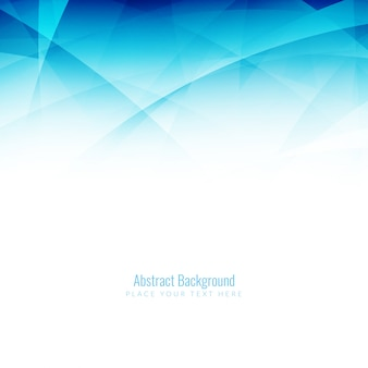 Blue background of abstract shapes