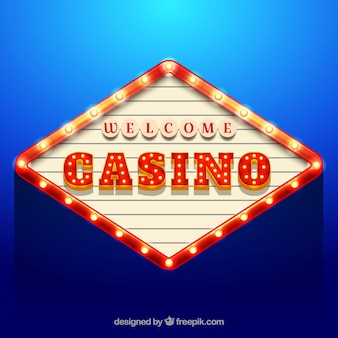 Blue background of casino billboard
