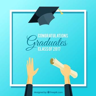 Sfondo blu per la celebrazione della laurea