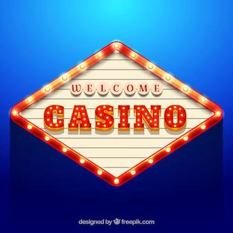 カジノの看板の青い背景