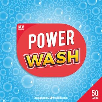 Blue background of detergent bubbles
