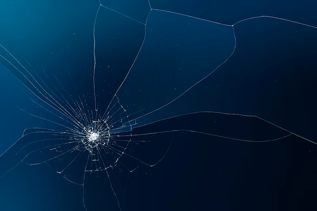 Blue background vector with broken glass effect