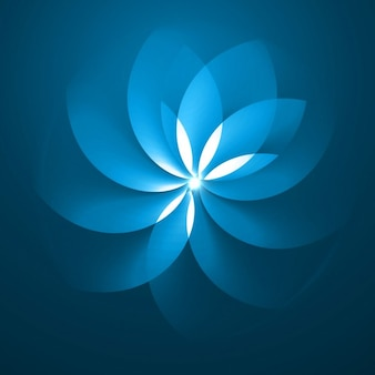 Blue background with abstract flower