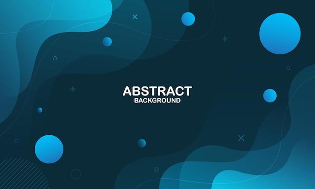 Синий фон с абстрактными формами