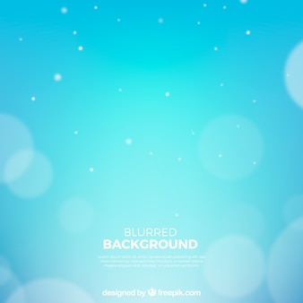 Blue background with bokeh effect