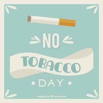 Голубой фон с сигаретой в день без табака