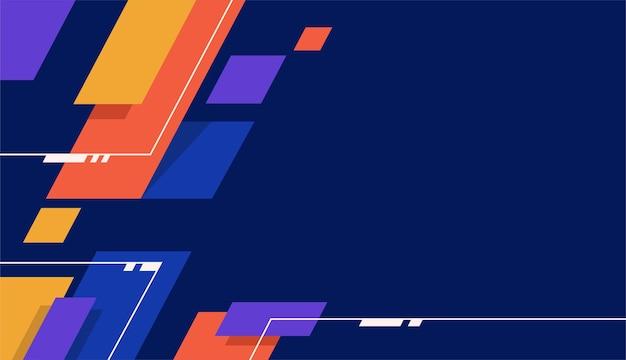 Синий фон с красочными формами векторный дизайн