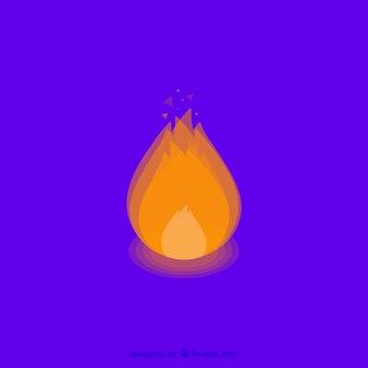 Голубой фон с декоративным пламенем