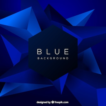 Blue background with different shapes