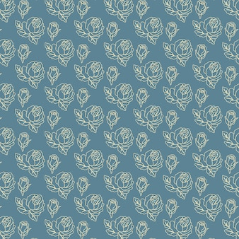 Blue background with floral pattern
