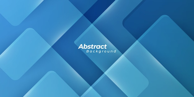Blue background with geometric shapes