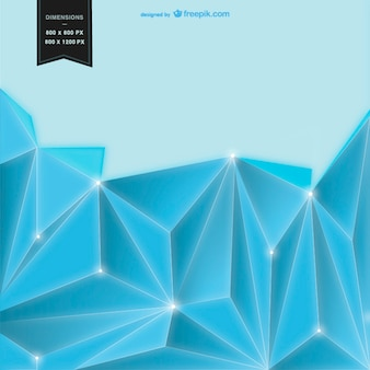 Blue background with geometrical shapes