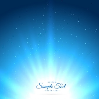 Blue background with glowing sunburst