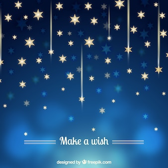 Blue background with golden stars