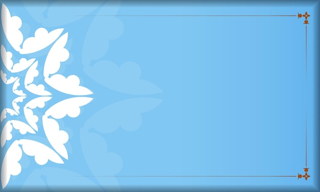 Blue background with greek white ornaments for design under your logo or text
