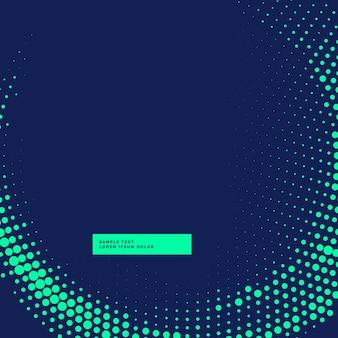 Синий фон с ярким дизайном полутонов