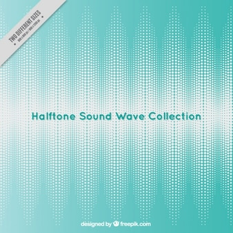 Blue background with halftone sound wave