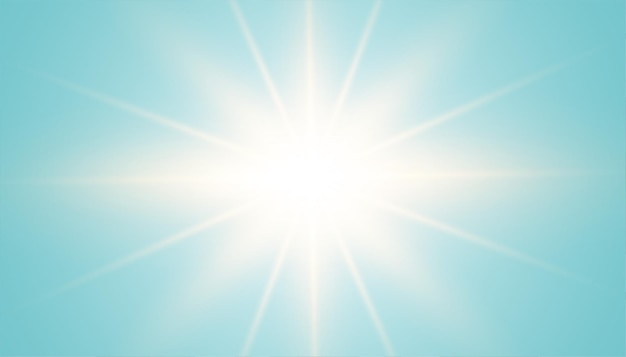 Blue background with lens flare effect at center