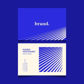 Blue background with lines visit business card