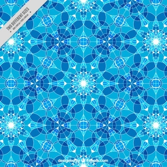 Blue background with little geometric crystals