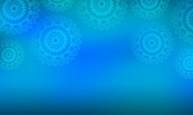 Blue background with mandala