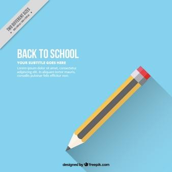 연필로 파란색 배경