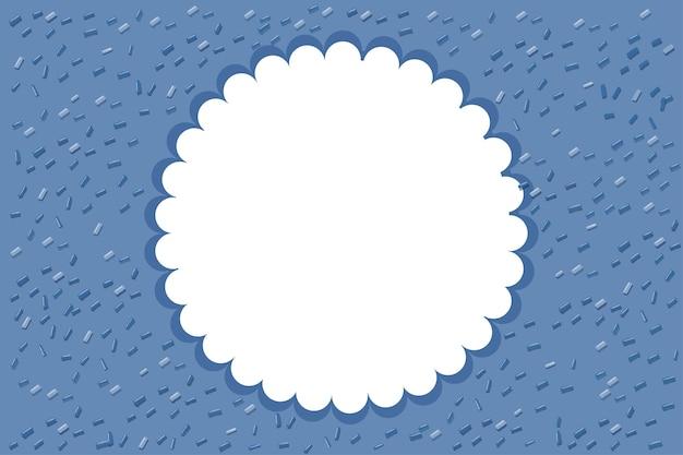 Sfondo blu con cornice rotonda