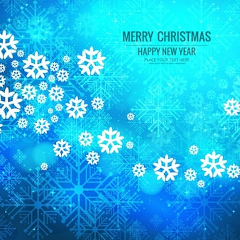 Blue background with snowflakes for christmas