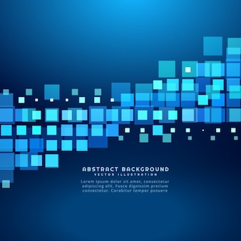 Blue background with square shapes