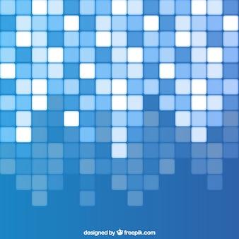 Синий фон с квадратами