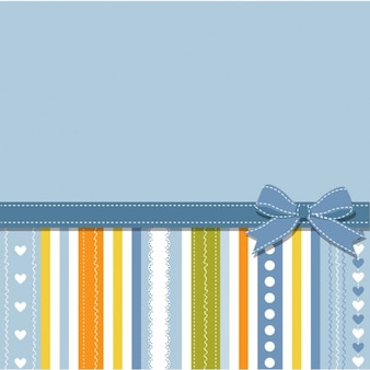 Blue background with stripes and ribbon