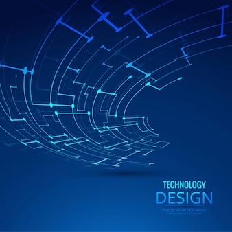 技術のリンクを持つ青の背景