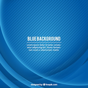 Blue background with wavy lines