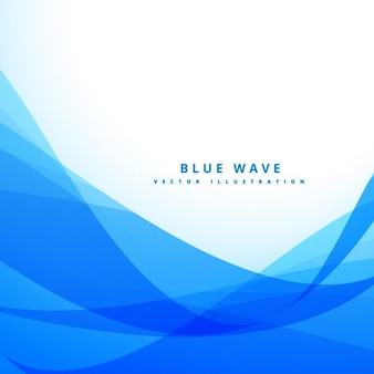 Blue background with wavy shapes