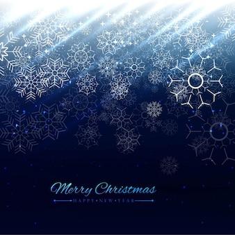 ブルー光沢のあるクリスマスの背景